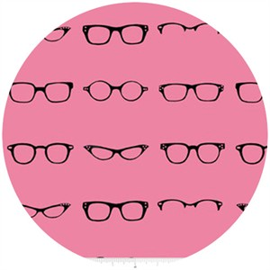 Amy Adams for Riley Blake, Geekly Chic, Glasses Hot Pink