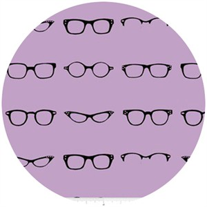 Amy Adams for Riley Blake, Geekly Chic, Glasses Lavender