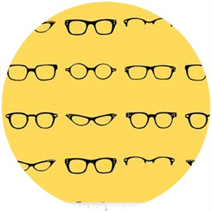 Amy Adams for Riley Blake, Geekly Chic, Glasses Yellow