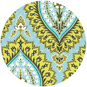 Amy Butler, Alchemy, Organic, Imperial Paisley Blue Sky