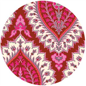 Amy Butler, Alchemy, Organic, Imperial Paisley Ruby