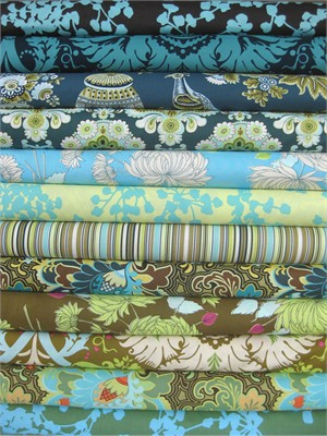 Amy Butler, Belle, Moonlit Path in FAT QUARTERS 12 Total