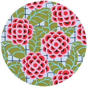 Amy Butler, Cameo, LAMINATE, Tea Rose Silver