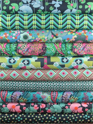 Amy Butler, Glow, Marine in FAT QUARTERS 12 Total