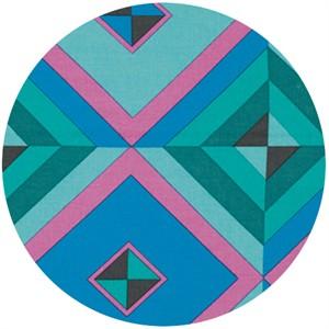 Amy Butler, Hapi, LINEN, Sky Pyramid Cobalt