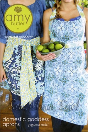 Amy Butler Sewing Pattern, Domestic Goddess Aprons