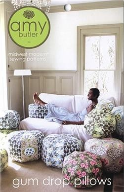 Amy Butler Sewing Pattern, Gum Drop Pillows