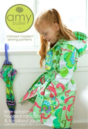 Amy Butler Sewing Pattern, Little Splashes Hooded Raincoat