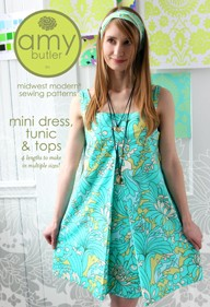 Amy Butler, Sewing Pattern, Mini Dress, Tunic & Top