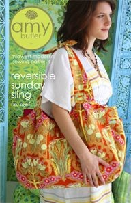 Amy Butler Sewing Pattern, Reversible Sunday Sling