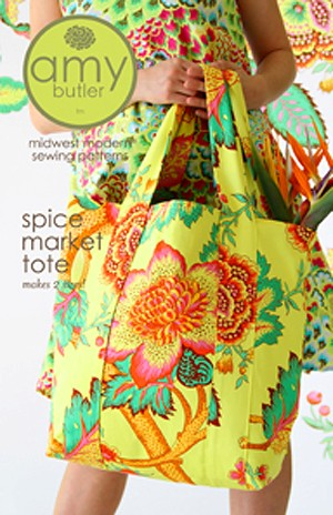 Amy Butler Sewing Pattern, Spice Market Tote