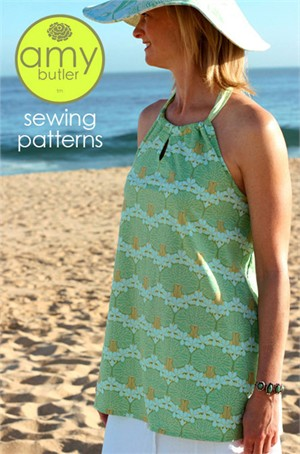 Amy Butler Sewing Pattern, Sun Surf Halter