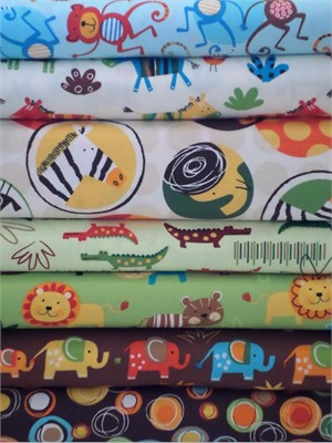 Amy Schimler, Jungle Creatures, Bermuda in FAT QUARTERS 7 Total