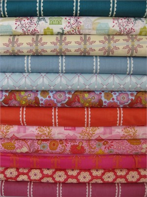 Anna Maria Horner, Little Folks, VOILE,  Berry Marine in FAT QUARTERS 11 Total (Last Bundle)