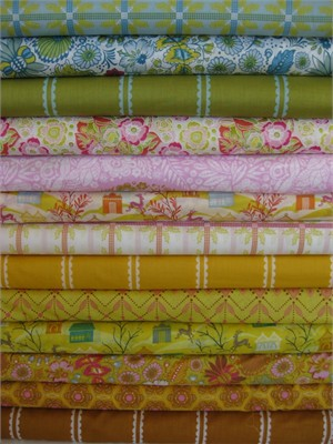 Anna Maria Horner, Little Folks, VOILE, Citrus Sweet in FAT QUARTERS 13 Total