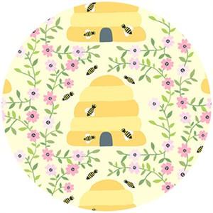 Andover Fabrics, 1canoe2, Busy Bees Yellow