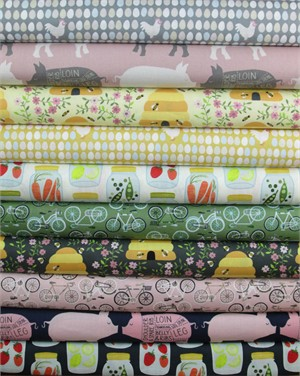 Andover Fabrics, 1canoe2 in FAT QUARTERS 7 Total (PRE-CUT)