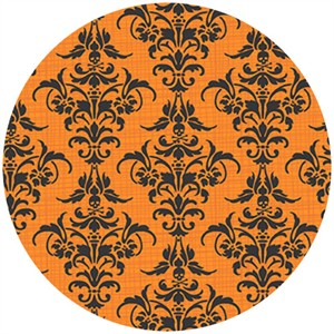 Andover Fabrics, Chillingsworth, Deadly Damask Pumpkin