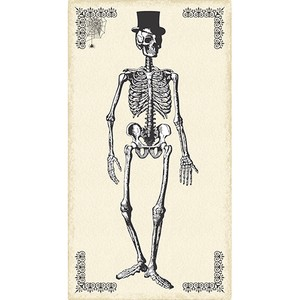 Andover Fabrics, Chillingsworth, Skeleton Dance Panel Parchment  (23 Inch Panel)
