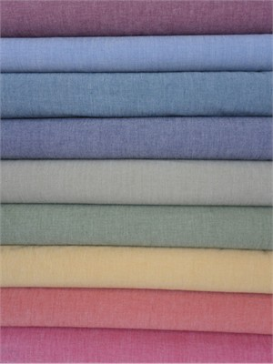 Andover Fabrics, Chambray Solids, Color Sampler FAT QUARTERS 8 in Total