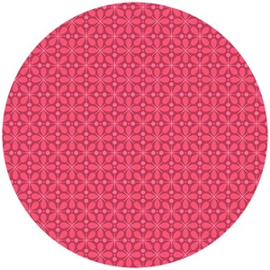 Andover Fabrics, The Color Collection, Tiles Bright Pink