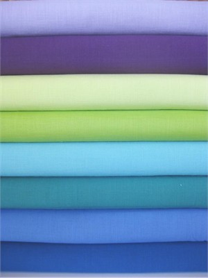 Andover Fabrics, Textured Solids, Cool in Fat Quarters 7 Total