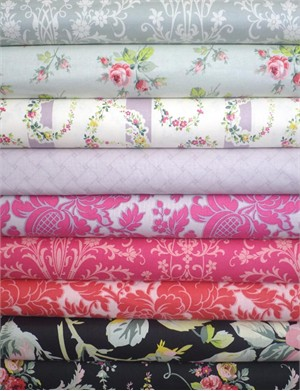 Anna Griffin, Grace, Fuchsia/Black in FAT QUARTERS 7 Total