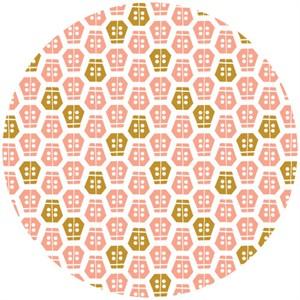 Aneela Hoey for Cloud9,  ORGANIC, Vignette, Ladybug Pink