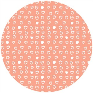 Aneela Hoey for Cloud9, ORGANIC, Vignette, Tulip Pink