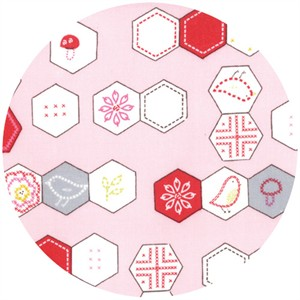 Aneela Hoey, Sew Stitchy, Hexagons Carnation