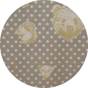 "Japanese Import, OXFORD, Animal Head Dot Grey (23"" panel)"