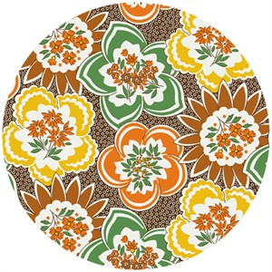 Andover Mama's Favorites Flowers Brown (1/2 Yard)