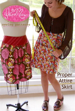 Anna Maria Horner Sewing Patterns, Proper Attire Skirt