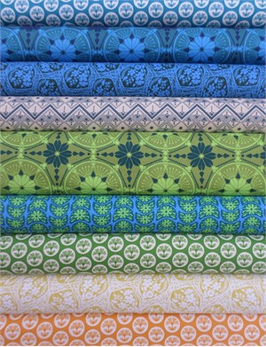 Anna Maria Horner, True Colors, True Blue in FAT QUARTERS 10 Total