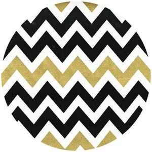 Ann Kelle, Remix, Metallic Chevron Stripes Ebony