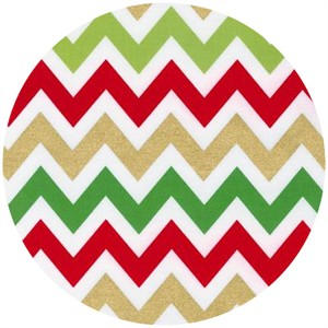 Ann Kelle, Remix, Metallic Chevron Stripes Holiday