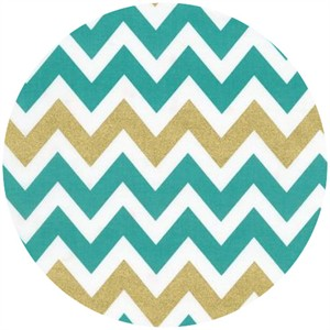 Ann Kelle, Remix, Metallic Chevron Stripes Kale