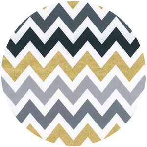 Ann Kelle, Remix, Metallic Chevron Stripes Smoke
