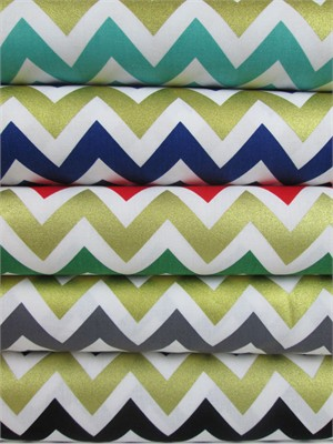 Ann Kelle, Remix, Metallic Chevron Stripes Sampler in FAT QUARTERS 5 Total