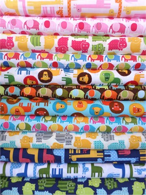 Ann Kelle, Urban Zoologie, Safari Sampler in FAT QUARTERS 12 Total