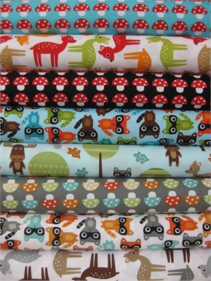 Ann Kelle. Woodland Pals in FAT QUARTERS 8 Total