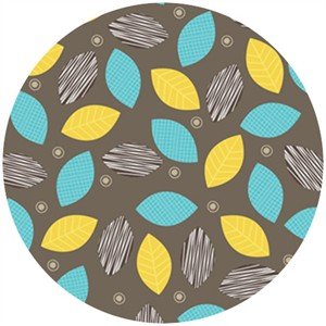 Angela Rekuck for Anthology Fabrics, Safari, Leaves Yellow
