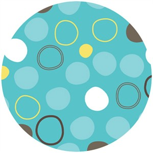 Angela Rekuck for Anthology Fabrics, Safari, Circles Blue