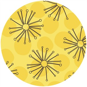 Angela Rekuck for Anthology Fabrics, Safari, Sketch Flowers Yellow