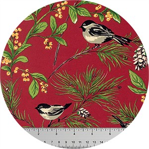 April Cornell for Free Spirit, Joy Joy, Chickadee Red