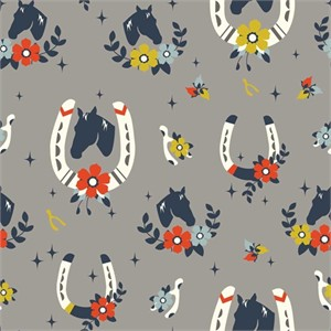Arleen Hillyer for Birch Organic Fabrics, Tall Tales, KNIT, Buttermilk Shroom