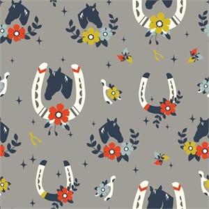 Arleen Hillyer for Birch Organic Fabrics, Tall Tales, CANVAS, Buttermilk Shroom