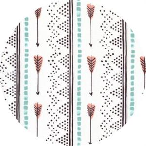 Rae Richie for Dear Stella, Desert Bloom, Arrow Stripe Multi