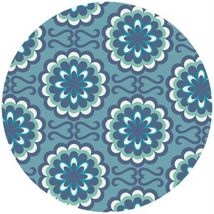 Art Gallery Fabrics, Chromatics, Fancy Buttons Blue