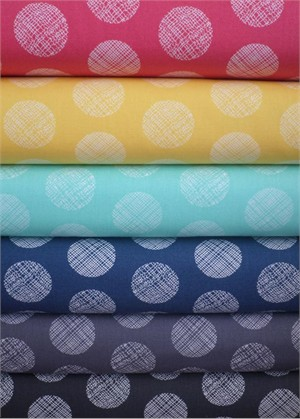 Art Gallery Fabrics, Chromatics, Pointelle Sampler in FAT QUARTERS 6 Total